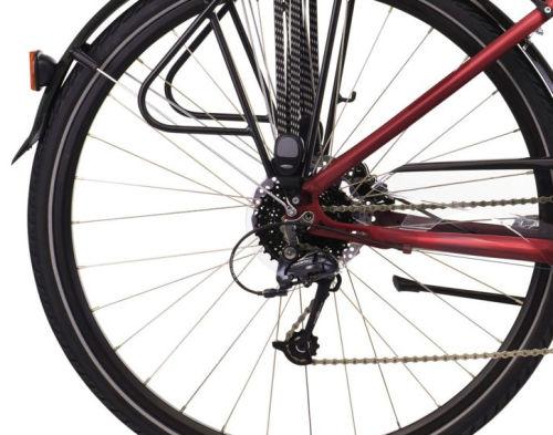 """Rower Kross Trans 5.0 M 28"""" damski rubinowo-czarny"""