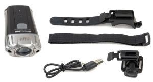 Lampa rowerowa / na kask Author Solaris 300 przód USB