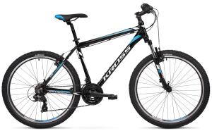 """Rower Kross Hexagon 1.0 M 26"""" czarno-biało-niebieski"""