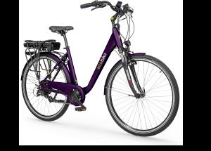 """Rower elektryczny EcoBike Trafik Violet PRO 28"""", bateria 13 Ah"""